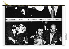 Carry-all Pouch featuring the photograph Marilyn Monroe And Joe Dimaggio 1950s Photos By Unknown Japanese Photographer by Peter Gumaer Ogden Collection