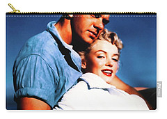 Carry-all Pouch featuring the photograph Marilyn Monroe Blond Bomb Shell Clash By Night by R Muirhead Art