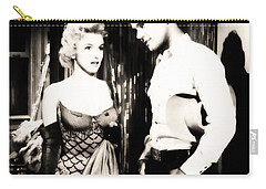 Carry-all Pouch featuring the photograph Marilyn Monroe Blond Bomb Shell by R Muirhead Art