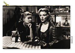 Carry-all Pouch featuring the photograph Marilyn Monroe Blond Sex Goddess by R Muirhead Art
