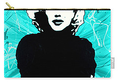 Marilyn Monroe Blue Green Aqua Tint Carry-all Pouch