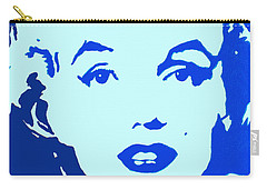 Marilyn Monroe Blue Pop Art Portrait Carry-all Pouch