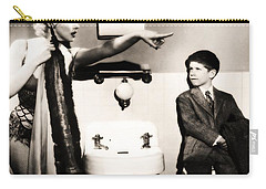 Carry-all Pouch featuring the photograph Marilyn Monroe Spied On By Cheeky Boy In Changing Room by R Muirhead Art