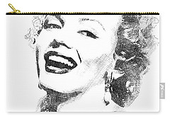 Marilyn Monroe Bw Portrait Carry-all Pouch