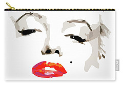 Marilyn Monroe Minimalist Carry-all Pouch by Quim Abella