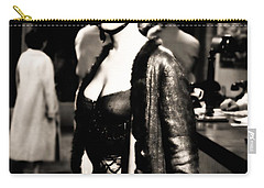 Carry-all Pouch featuring the photograph Marilyn Monroe Dressed To Trill In Bus Stop by R Muirhead Art