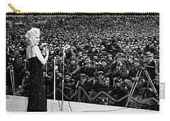 Marilyn Monroe Entertaining The Troops In Korea Carry-all Pouch by American School