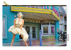 Marilyn Monroe In Front Of Tropic Theatre In Key West Carry-all Pouch by David Smith