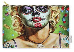 Marilyn Monroe Jfk Day Of The Dead  Carry-all Pouch