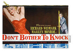 Carry-all Pouch featuring the photograph Marilyn Monroe Movie Poster Don't Bother To Knock by R Muirhead Art