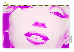 Marilyn Monroe, Purple And Pink Carry-all Pouch