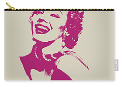 Marilyn Monroe Vector Pop Art Portrait Carry-all Pouch by Design Turnpike