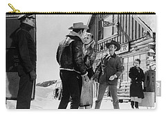 Carry-all Pouch featuring the photograph Marilyn Monroe Western Scene by R Muirhead Art