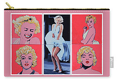 Marilyn Monroe With Sketches Carry-all Pouch