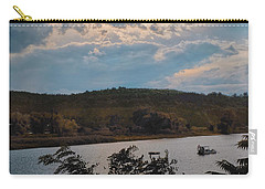 Carry-all Pouch featuring the photograph Marina Colors by Tom Singleton