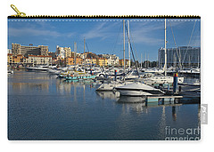 Marina Of Vilamoura At Afternoon Carry-all Pouch by Angelo DeVal