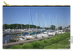 Marina On Black River Carry-all Pouch
