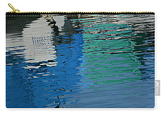 Marina Water Abstract 1 Carry-all Pouch by Fraida Gutovich