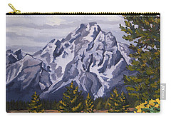 Carry-all Pouch featuring the painting Marina's Edge, Jenny Lake, Grand Tetons by Erin Fickert-Rowland