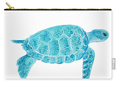 Marine Turtle Painting On White Carry-all Pouch