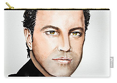 Carry-all Pouch featuring the painting Mario Frangoulis by Maria Barry