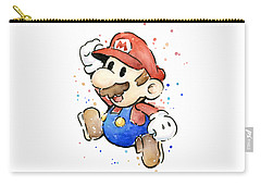 Mario Watercolor Fan Art Carry-all Pouch