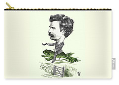 Mark Twain Caricature Colorized Carry-all Pouch