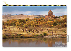 Marmashen Monastery Reflected On Lake At Autumn, Armenia Carry-all Pouch