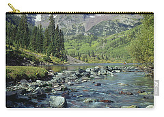 210404-maroon Bells And Creek  Carry-all Pouch