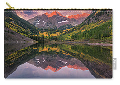 Maroon Bells At Sunrise Carry-all Pouch