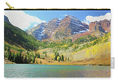 Carry-all Pouch featuring the photograph The Maroon Bells Reimagined 2 by Eric Glaser