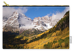 Carry-all Pouch featuring the photograph Maroon Bells by Steve Stuller