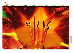 Maroon Lily Carry-all Pouch