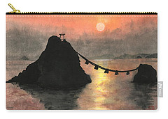 Married Couple Rocks At Sunset Carry-all Pouch