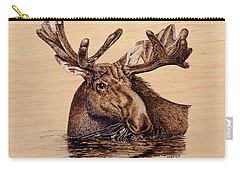Marsh Moose Carry-all Pouch by Ron Haist