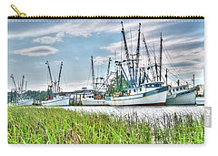 Marsh View Shrimp Boats Carry-all Pouch