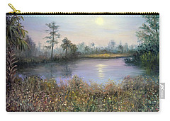 Marsh Wetland Moon Landscape Painting Carry-all Pouch
