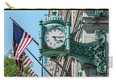 Marshall Field's Clock Carry-all Pouch