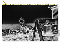 Carry-all Pouch featuring the photograph Marshall Point Bell And Light by Daniel Hebard