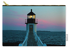 Marshall Point Lighthouse At Sunset Carry-all Pouch by Diane Diederich
