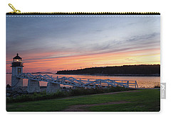 Carry-all Pouch featuring the photograph Marshall Point Lighthouse, Port Clyde, Maine -87444 by John Bald