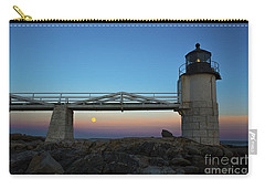 Marshall Point Lighthouse With Full Moon Carry-all Pouch by Diane Diederich