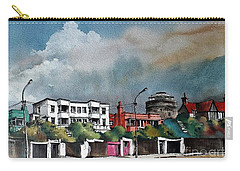 Martello Tower Bray Wicklow Carry-all Pouch by Val Byrne
