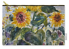 Martha's Sunflowers Carry-all Pouch by Quin Sweetman