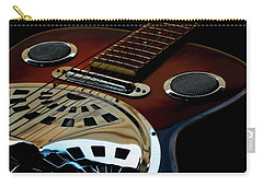 Carry-all Pouch featuring the photograph Martinez Guitar 002 by Kevin Chippindall