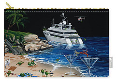 Martini Cove La Jolla Carry-all Pouch by Michael Godard