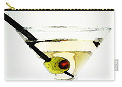 Martini With Green Olive Carry-all Pouch by Sharon Cummings