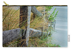 Carry-all Pouch featuring the photograph Marvel Of An Ordinary Fence by Patrice Zinck