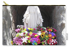 Mary At The Mission Carry-all Pouch by Mary Ellen Frazee
