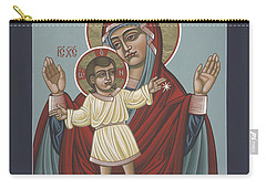 Carry-all Pouch featuring the painting Mary, Mother Of Mercy - Dedicated To Pope Francis In This Year Of Mercy 289 by William Hart McNichols